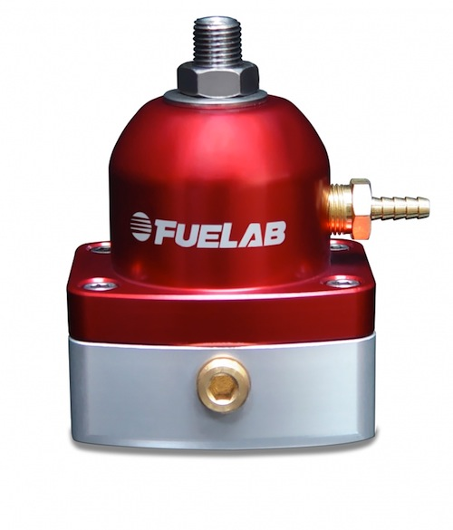 FueLab -6, -6 Adjustable Regulator In-Line Black