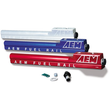 Accord All 90-93 AEM Fuel Rail Silver